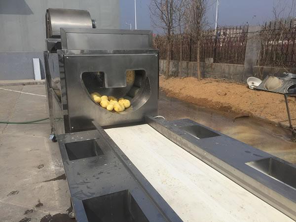 ماكينة تقشير البطاطس نصف مقلية